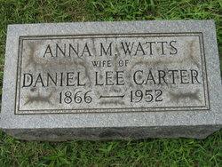 Anna Mary <I>Watts</I> Carter