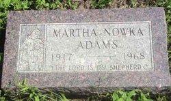 Martha <I>Nowka</I> Adams