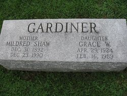Mildred <I>Shaw</I> Gardiner