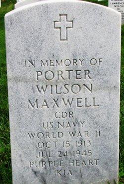 CDR Porter Wilson Maxwell