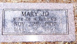Mrs Mary Jo <I>Brown</I> Dickie