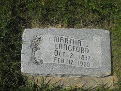 Martha Jane <I>Gott</I> Langford
