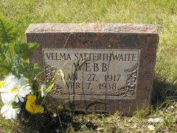 Velma <I>Satterthwaite</I> Webb