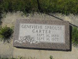Genevieve <I>Sprouse</I> Carter