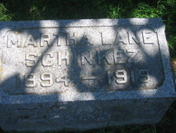 Martha <I>Lane</I> Schinkez