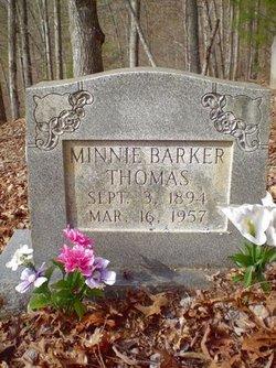 Minnie Emma <I>Barker</I> Thomas