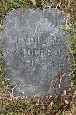 Lydia Margaret <I>Adams</I> Anderson