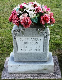 """Elizabeth Dorothea """"Betty"""" <I>Angus</I> Johnson"""