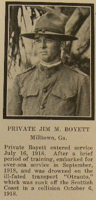 Pvt Jim M Boyett