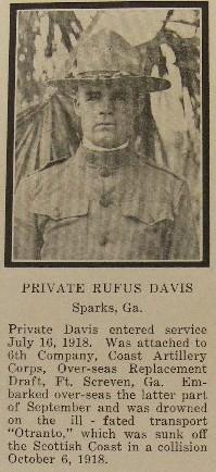 Pvt Rufus Davis