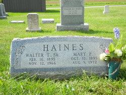 Mary Pauline <I>Wantz</I> Haines
