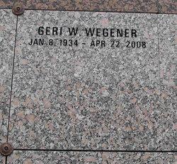 Geri W Wegener
