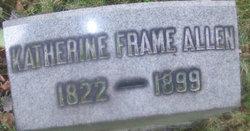 Katherine <I>Frame</I> Allen