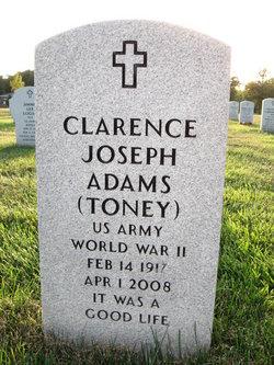 "Clarence Joseph ""Toney"" Adams"