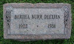 Bertha <I>Watts</I> Deetjen