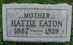 "Harriet Belle ""Hattie"" <I>Tracy</I> Eaton"