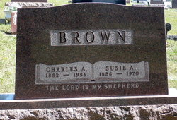 Susie A. <I>Dillinger</I> Brown
