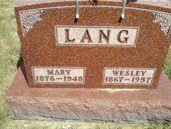 Mary <I>Relyea</I> Lang