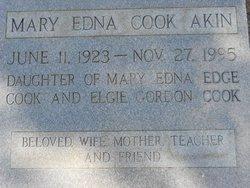 Mary Edna <I>Cook</I> Akin
