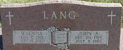 "John Anselm ""Johnny"" Lang"