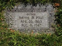 Mattie M <I>Haskins</I> Post