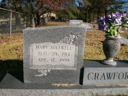 Mary <I>Maxwell</I> Crawford