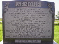 "Agnes Janet ""Aggie"" <I>Steel</I> Armour"