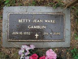 Betty Jean <I>Ware</I> Gamblin
