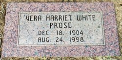 Vera Harriet <I>White</I> Prose