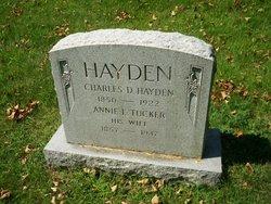 Annie L. <I>Tucker</I> Hayden