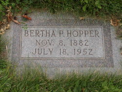 Bertha <I>Pitt</I> Hopper