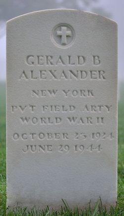 Pvt Gerald B Alexander
