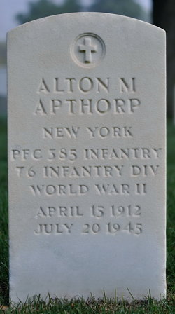 PFC Alton M Apthorp