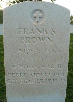 Pvt Frank S Brown