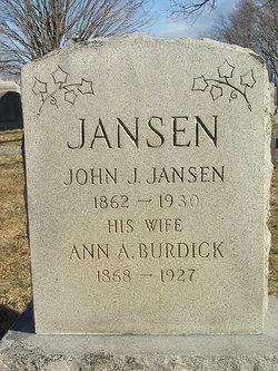 Ann Amie <I>Burdick</I> Jansen