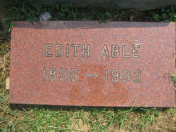 Edith Corrine <I>Harmon</I> Able