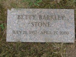 Betty <I>Barkley</I> Stone
