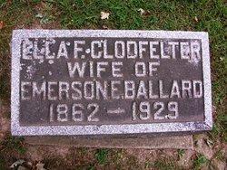 Ella F. <I>Clodfelter</I> Ballard