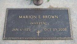 Marion Elizabeth <I>Warren</I> Brown