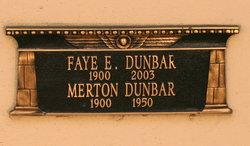Faye E. <I>Sloane</I> Dunbar