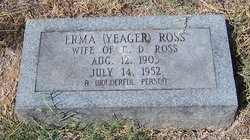 Erma <I>Yeager</I> Ross