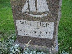 Ruth June <I>Nicol</I> Whittier