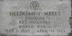 Pvt Hezekiah Taylor Meeks