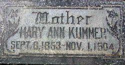 Mary Ann <I>Nageli</I> Kummer