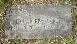 Edna <I>Kirby</I> Aaroe