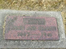 Mary Ann <I>Lentz</I> Cramer