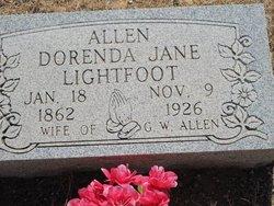 Dorenda Jane <I>Lightfoot</I> Allen