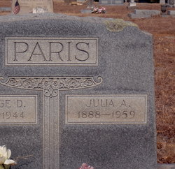 Julia Ann <I>McDaniel</I> Paris