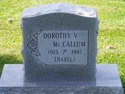 Dorothy V <I>Habel</I> McCallum
