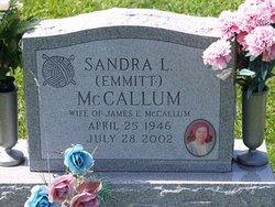 Sandra Lee <I>Emmitt</I> McCallum